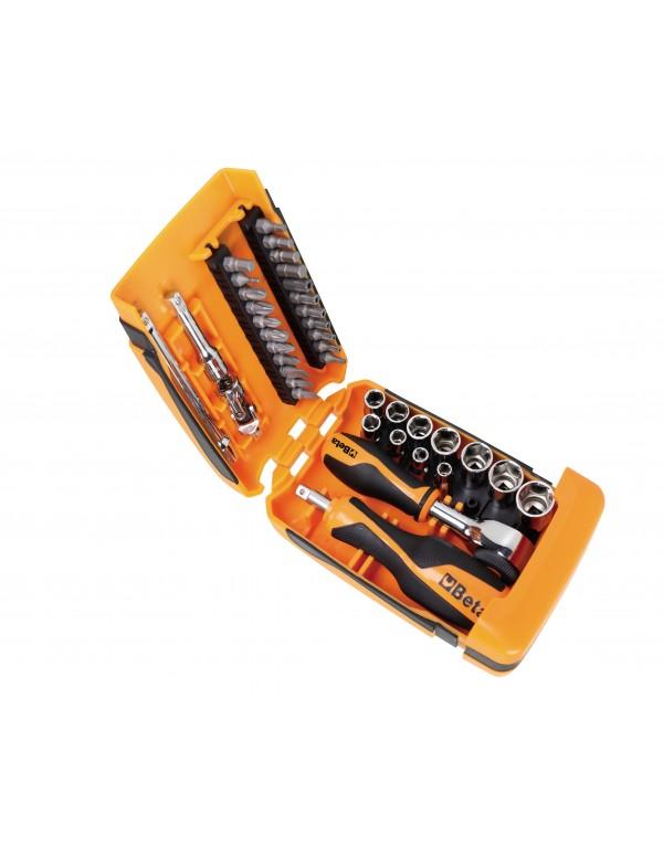 Surtido de 11 llaves de vaso hexagonales, 21 puntas de atornillar y 7 accesorios 900/C39-R