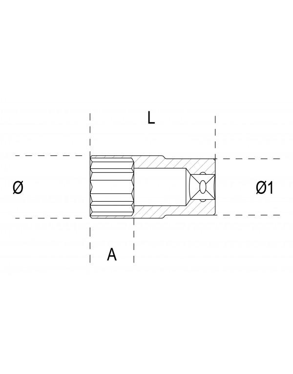LLAVE VASO LARGA POLIGONAL 900AS/MBL (PULGADAS)