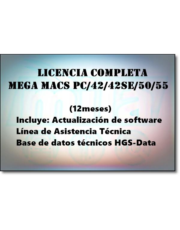 LICENCIA COMPLETA MEGA MACS PC / 42 / 42 SE / 50