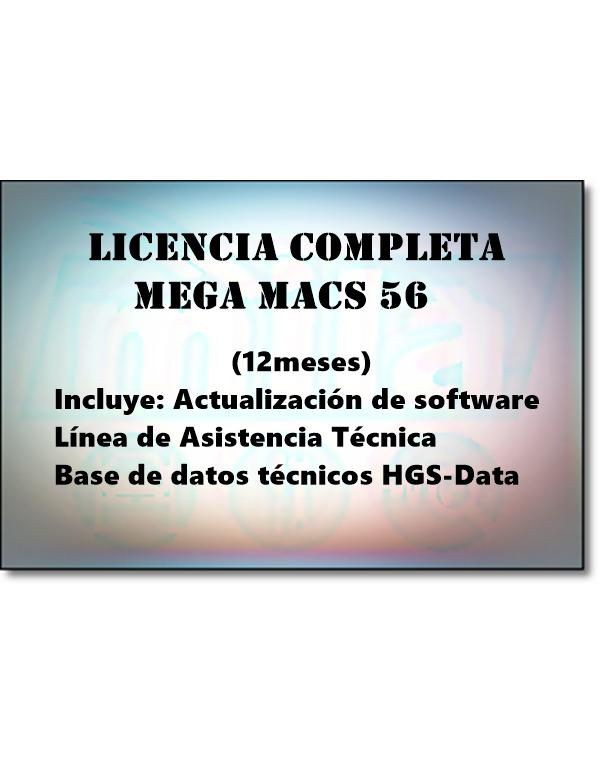 LICENCIA COMPLETA MEGA MACS 56
