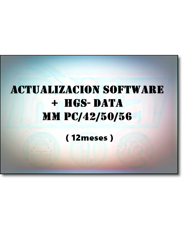 ACTUALIZACION SOFTWARE + HGS-DATA MM PC/42/50/56