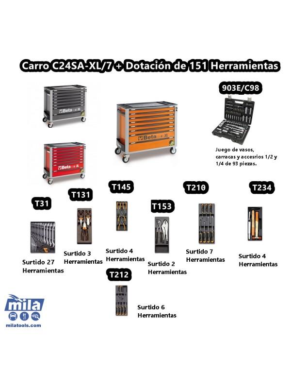 CARRO CON 151 HERRAMIENTAS INCLUIDAS C24SA-XL/7