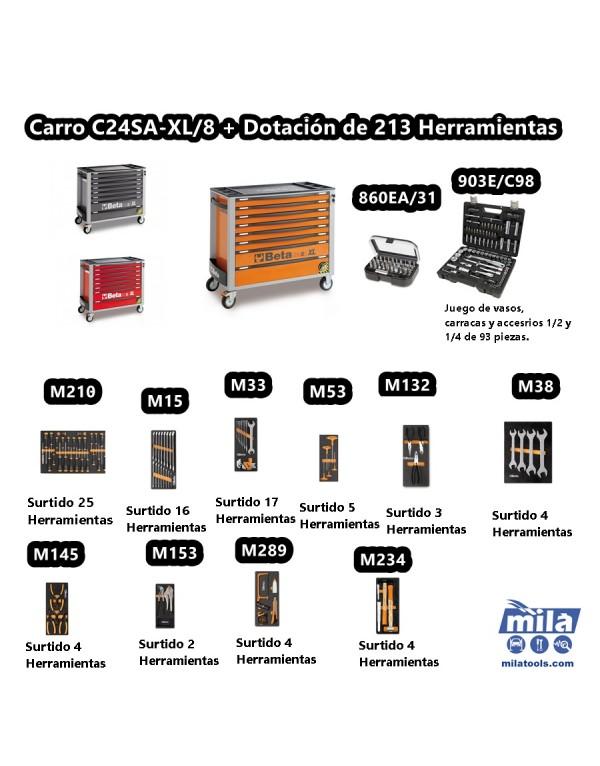CARRO CON 207 HERRAMIENTAS INCLUIDAS C24SA-XL/7