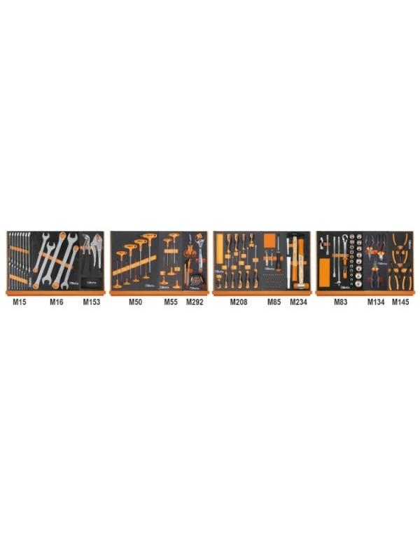 SURTIDO DE 130 HERRAMIENTAS EN TERMOFORMADOS DE ESPUMA 5904VG/3M
